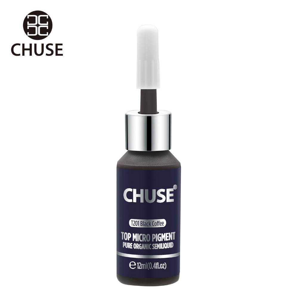 все цены на CHUSE Black Coffee T201 Permanent Makeup Ink Eyeliner Tattoo Ink Set Eyebrow Microblading Pigment Professional 12ML 0.4oz онлайн