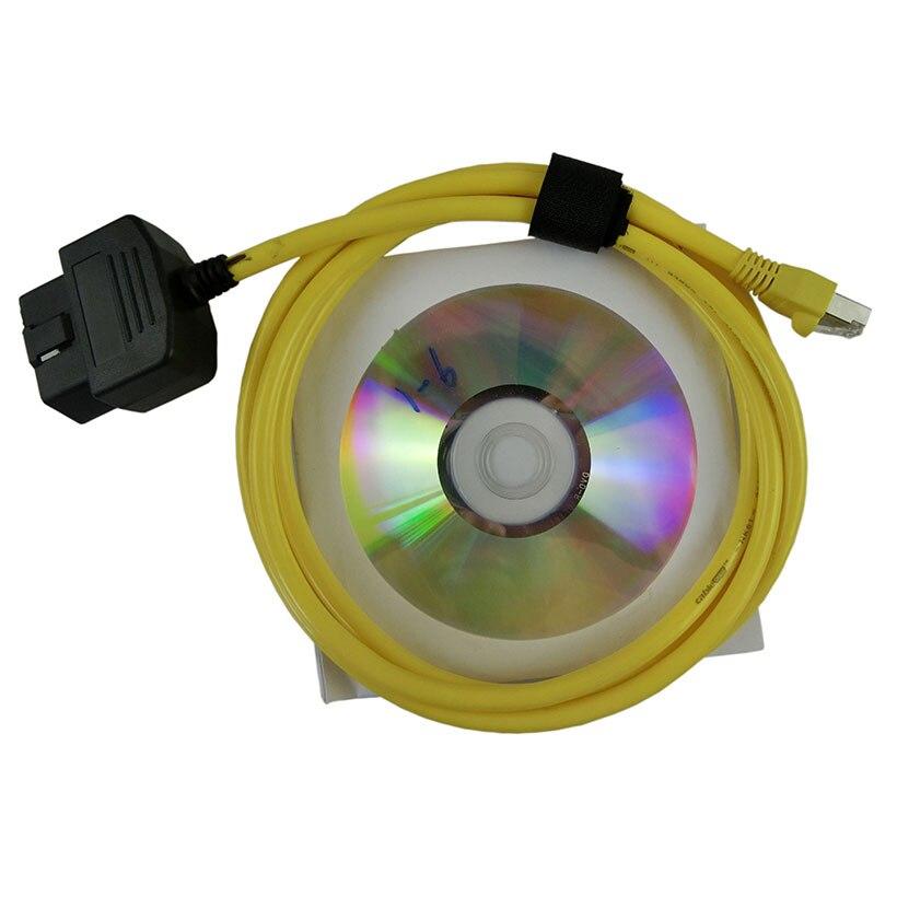 Prix pour Nouvelle Arrivée Enet Ethernet ESYS 3.23.4 V50.3 Données Câble Pour b-mw OBD2 OBDII Interface Données ESYS ICOM Codage F-série obd connecteur