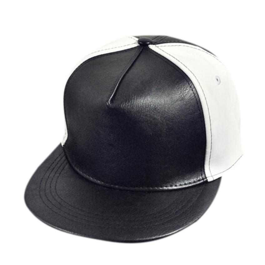 Hats Baseball-Cap Snapback Hiphop-Style Cowboy Pu Leater Women Concert Low-Profile 55-60