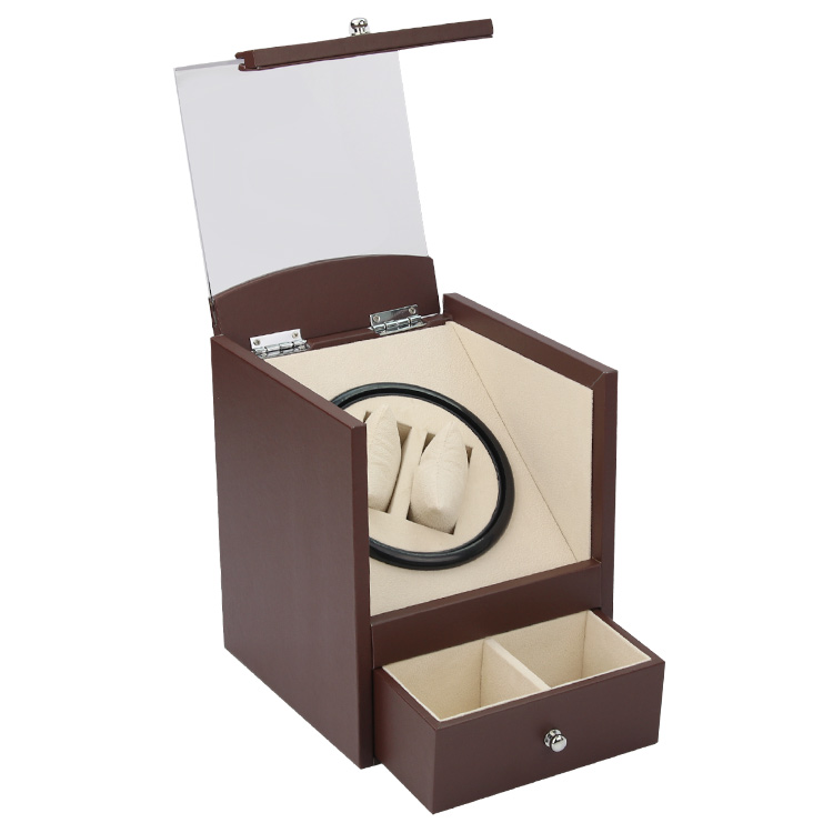 Automatic watch winder in watch box 2 motor box for watches mechanism cases with drawer storage send by DHL Shipping Fast