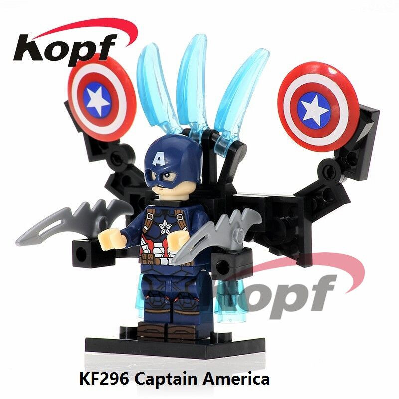 KF296 Super Heroes Captain America (Age of Ultron Version) Bricks Building Blocks Action Figures Education Children Gift Toys 12pcs set children kids toys gift mini figures toys little pet animal cat dog lps action figures