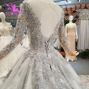Image 5 - AIJINGYU 반짝 이는 가운 럭셔리 레이스 가운 여왕 로맨틱 신부 멕시코 2021 2020 볼 드레스 간단한 웨딩 드레스
