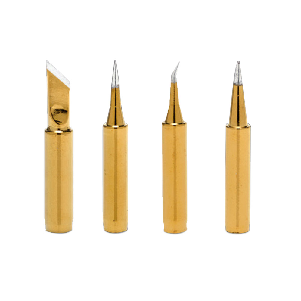 JZL 4pcs 900M-T Gold Electric Iron Head For 936/937/942 And Various Resistance Ceramics Heat Welding High Quality Soldering Iron