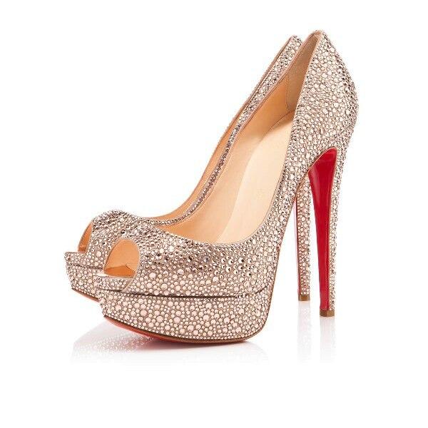 light peach shoes