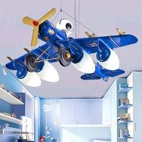 Мальчик Спальня светодиодный подвесные светильники Luminarias мультфильма Самолеты лампы Теплый светодиодный Средства ухода для век детская к