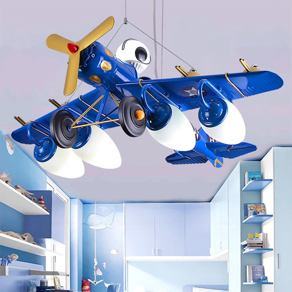 Boy Bedroom Led pendant lights luminarias Cartoon Aircraft Lamp Warm LED Eyes Children Room Lamp nordic light цена