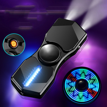2019 Multiple patterns Flash glare LED Hand Spinner Electronic Cigarette Lighters Flameless USB Electric Charging Plasma Lighter
