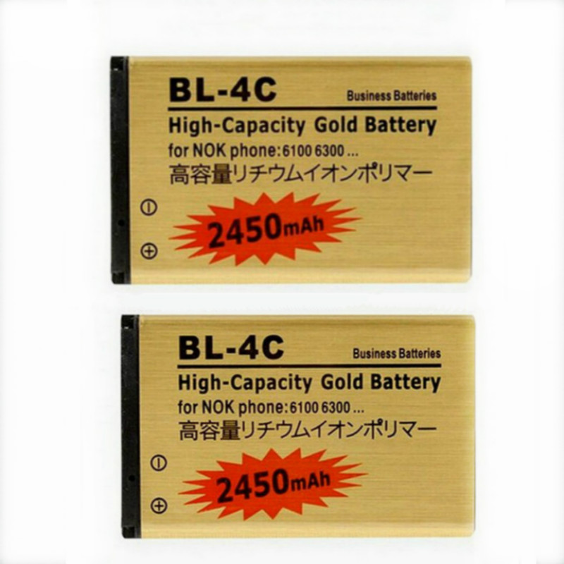 2pcs/lot Golden bateria <font><b>BL</b></font>-<font><b>4C</b></font> <font><b>bl</b></font> <font><b>4c</b></font> Mobile Phone Battery ffor <font><b>Nokia</b></font> 6100 6300 6260 6125 6136S battery image