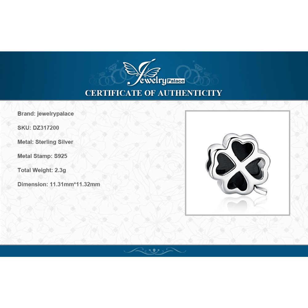 JewelryPalace 925 スターリングシルバー 4 葉のクローバーのチャームシルバー 925 オリジナルブレスレットシルバー 925 オリジナルジュエリー