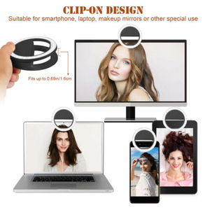Image 5 - Universal Phone Selfie Ring LED Auto Flash Portable Mini Camera Photography Light Ring Photo Lamp For Iphone Samsung Tablet