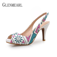 Women Pumps High Heels Shoes Platform Spring Party Shoes Woman Peep Toe Thin Heels Female Casual Shoes Summer Plus Size Newest цена 2017