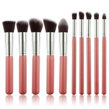 Contour Brush 10 Pcs Superior Professional Soft Cosmetics Make Up Brush Set Woman's Kabuki Brushes blush Brushes Maquiagem(China)