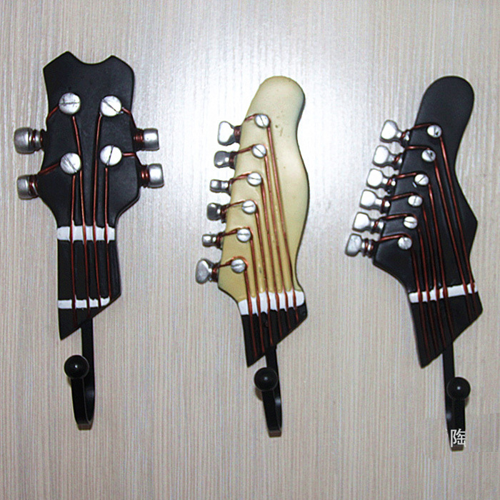Decorative Wall Hooks For Hanging guitar hook decor promotion-shop for promotional guitar hook decor