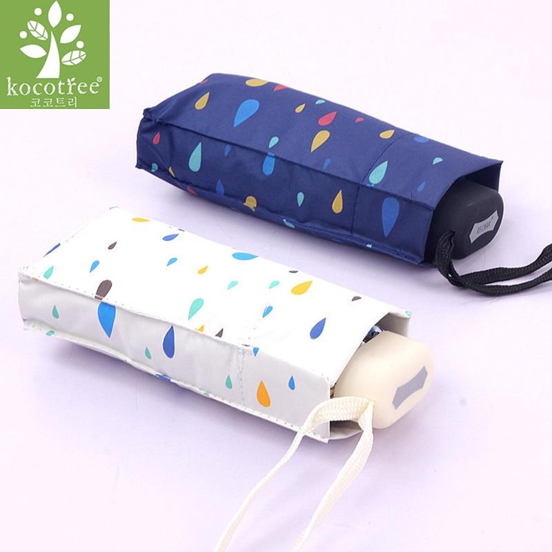 2018 kreative Regenschirm Regen Frauen Mini Super Licht Tasche Regentropfen Stil Manuelle Umbrella Frauen Regen/Sonne Männer Kinder Paraguas