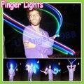 Бесплатная доставка 20 шт./лот 4 светодиодный пальцем свет, Арендатор палец лампа, рождественских ночник, мигающие детские игрушки партии игрушки (5 компл.)
