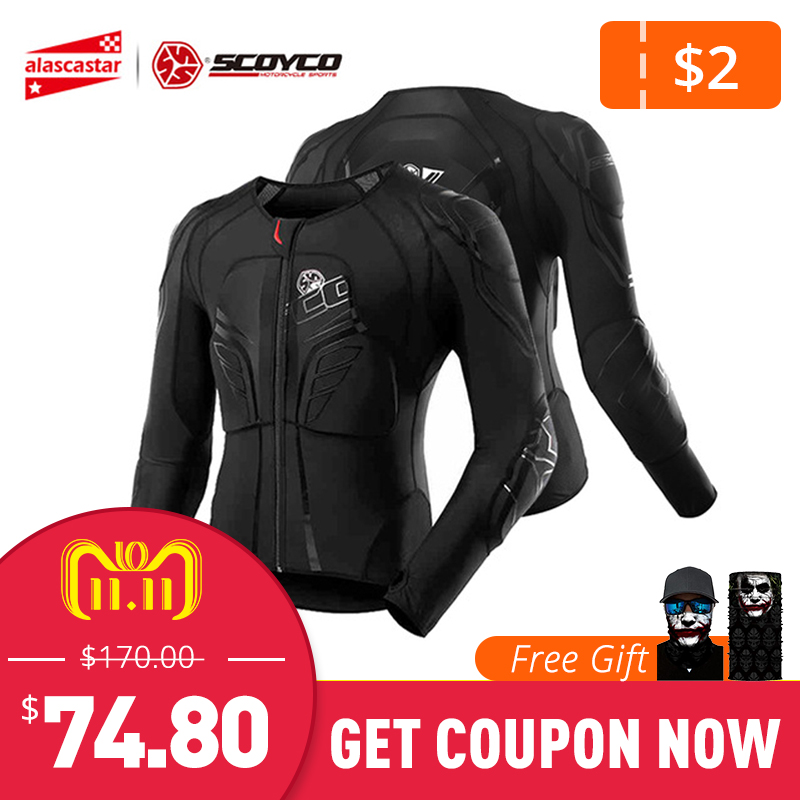 SCOYCO Motorcycle Jacket Motocross Protection Protective Gear Moto Jacket Motorcycle Armor Racing Body Armor Black Moto Armor scoyco am05 racing motorcycle body armor protector black size m