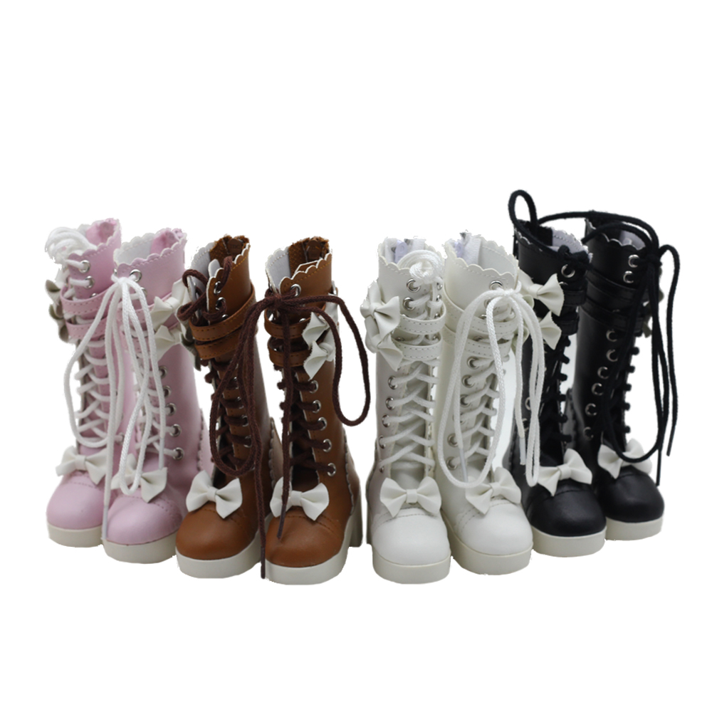 60cm 1/3 Bjd Sd Doll Boots Leaves Girl Toys Dolls Children's Shoes 7.8cm Doll Toys High Boots