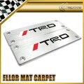 Автомобиль стайлинг Для Toyota TRD Алюминиевый Коврик Carmats Эмблема Ковер Универсальный Fitment 110x35mm
