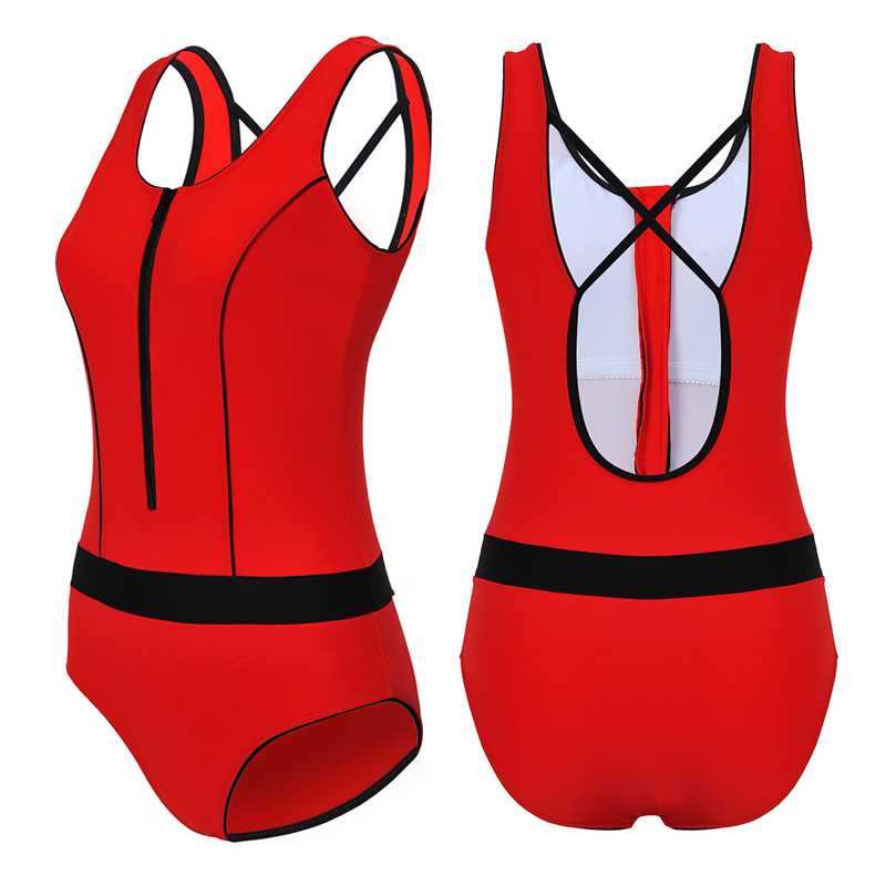 Aliexpress.com   Buy Women One Piece Swimsuit Bodysuit Sleeveless Solid  Color Red Hollow Out String Back Girl Race Competitive Professional Swimwear  from ... 1aae0926f