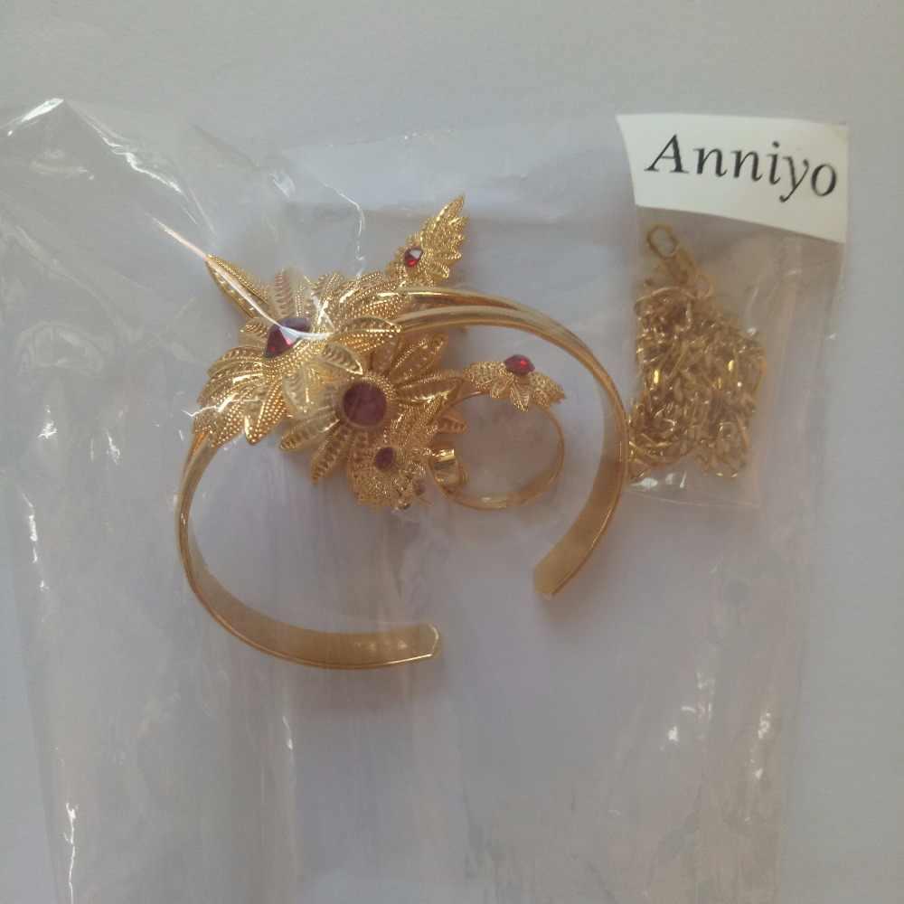 Anniyo Habesha طقم حفل الزفاف الاثيوبية مجوهرات الذهب اللون إريتريا الزفاف مجوهرات العرقية نمط السودان الخطوبة المهر # 002601B