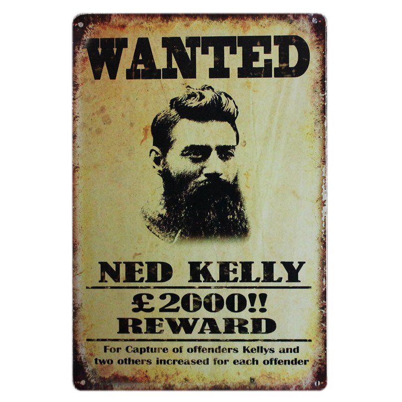 Ned Kelly Metal Εικόνα Ζωγραφικής - Διακόσμηση σπιτιού - Φωτογραφία 3