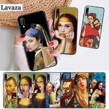 Lavaza Mona Lisa funny Spoof Art Silicone Case for Huawei P8 Lite 2015 2017 P9 2016 Mimi P10 P20 Pro P Smart Z 2019 P30