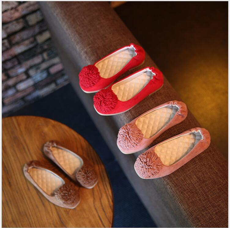 2017 new fashion tassel shoes girls sports shoes children elastic soft-soled casual shoes size 26-30