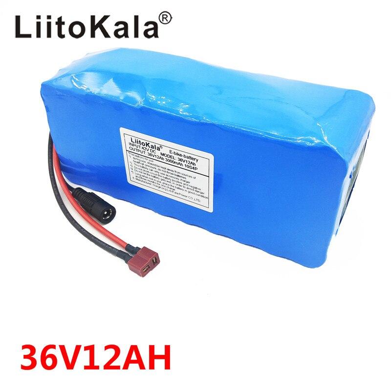 LiitoKala 36 V 12AH batterie de vélo électrique intégrée dans 20A BMS batterie au Lithium 36 volts avec 2A Charge batterie Ebike - 5