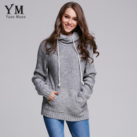 YuooMuoo Brand Design 2016 Casual Women Sweater Autumn And Winter Knitted Pullover European Fashion Women Hoodies