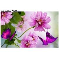 ZOOYA Diamond Embroidery Full Diamond Mosaic Diamond Mosaic Diamond Painting Cross Stitch Floral Butterfly BB554