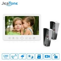 JeaTone 1200TVL Video Intercom System 7 White Hands Free Dual Communication Indoor Monitor IR Night Camera