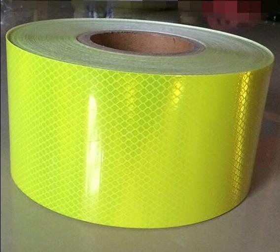 10CM Wide Fluorescent Reflective Sticker Automobile Car Motorcycle Decoration Self-adhesive Reflective Warning Tape 5cmx3m small shining self adhesive reflective warning tape with yellow black colorttwill printing for car and motorcycle