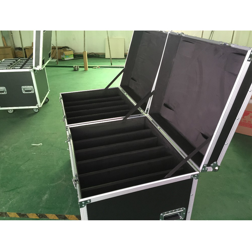 P3.91 And P4.81 Die Casting Aluminum Flight Case, 1 Pack 6 Flight Case For 500mmX1000mm Aluminium Die Casting Cabinet