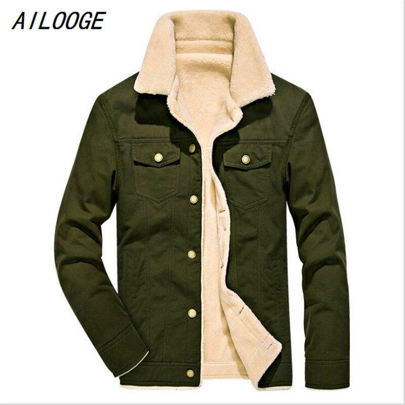 Ailooge 2018 новая зимняя куртка с хлопковой подкладкой с флисом зимняя мужская куртка с хлопковой подкладкой толстые размер