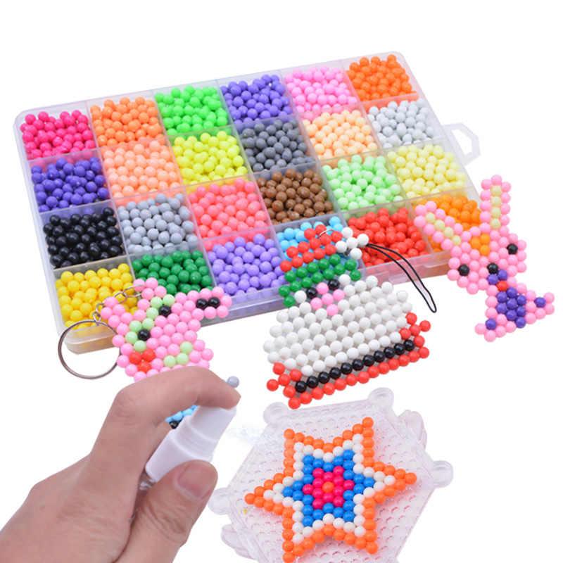 3D Perline FAI DA TE di Acqua Animale Appiccicoso Perline Perlen Aqua Puzzle Giocattoli Set Perle di Magia Per Bambini Giocattoli Educativi Di Puzzle