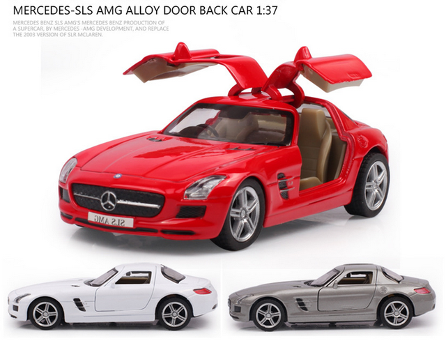 1 37 Cast Mercedes Benz Sls Amg Collection Model Baby Toy Car With