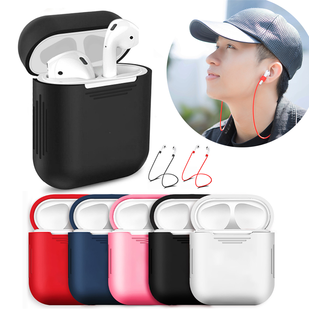 Soft Silicone Case For Airpods accessories headphone Protector Ultra Thin Cover Shockproof Pouch For Apple Air Pods Earphone
