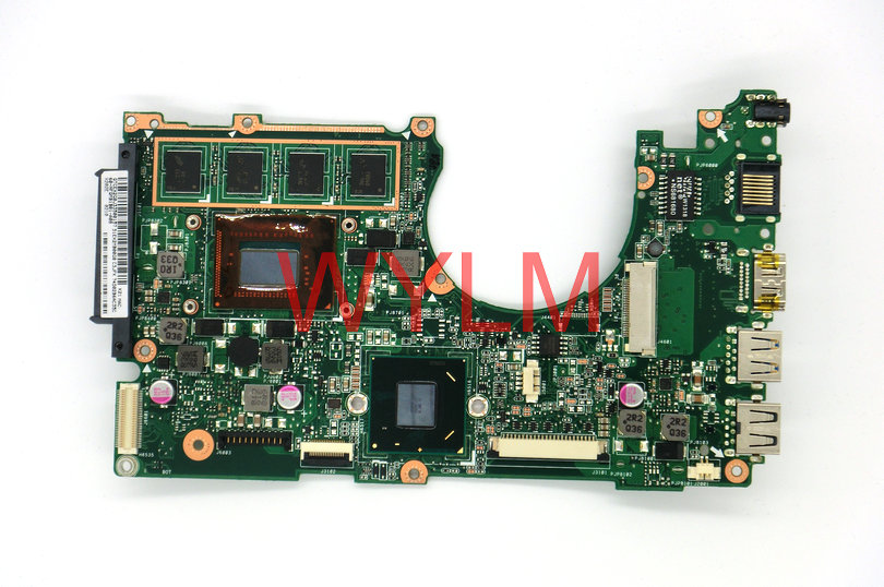 free shipping  brand original X202 X202E laptop motherboard MAIN BOARD SR0N9 I3 CPU 60-NFQMB1B01-A08 100% Tested Working