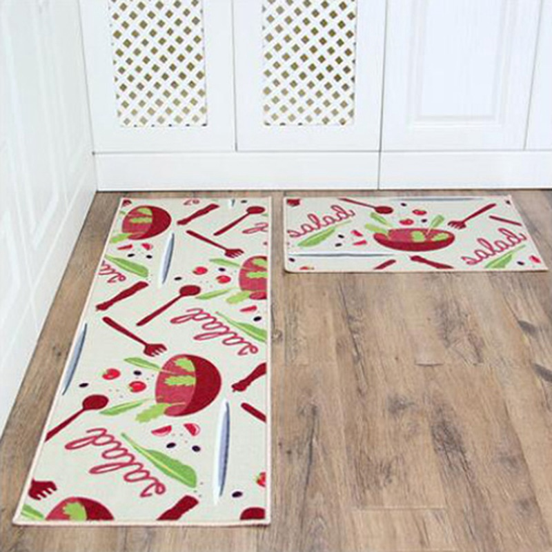 2pcs/set door mats printed floor mat carpet kitchen rugs
