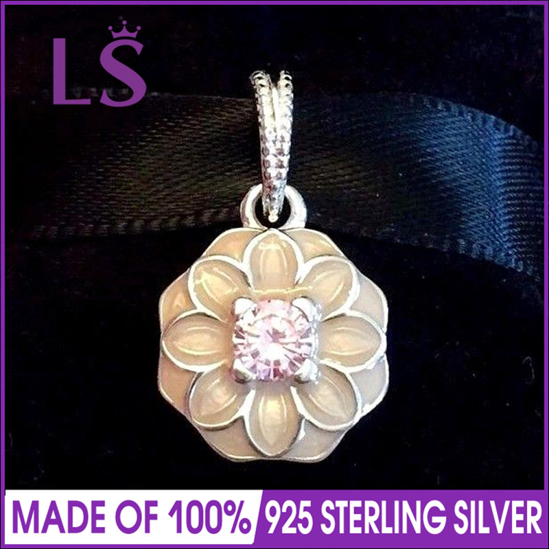 02d960d7b ... low cost ls hot sale real 925 silver blooming dahlia cz dangle charms  fit original bracelets