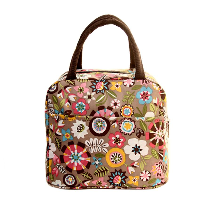2018new lunch bag food picnic for women children cooler insulated lunch thermal coolermeal bag Thermal