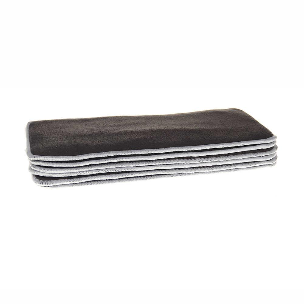 1 개/대 재사용 가능한 4 레이어 대나무 숯 섬유 삽입 소프트 베이비 천 기저귀 기저귀 사용 물 흡수 통기성 기저귀
