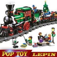 770pcs 36001 Model Building Kits Compatible With Legoed City The Christmas Winter Holiday Train Blocks Model