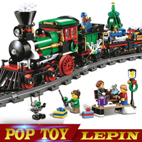 770pcs 36001 Model Building Kits Compatible With Legoed City The Christmas Winter Holiday Train Blocks Model