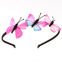 1pcs Kids Girls Hair Band Butterfly Headband Children Party BB Accessories Colorful Handmade Fairy Princess Hairbands 2019