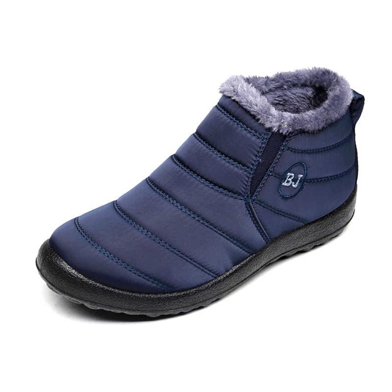 Mannen Laarzen Winter Waterdichte Mannen Schoenen Warm Bont Snowboots Pluche Binnenkant Schoenen Zwart Winter Laarzen Voor Mannen Plus Size mans schoeisel