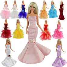 High Quality 3 Items Random Pick Mermaid Tail Doll Dress For Barbie Doll Clothes Evening Dresses Party Gown 1/6 Doll Accessories new arrvial doll s quality evening fishtail princess wedding eveningl dress for barbie doll