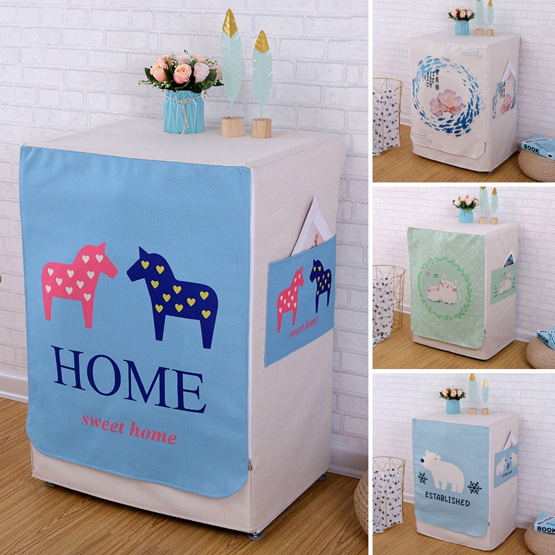 Washing Machine Covers Made Of High Quality Cotton linen Material For Home Accessories 17