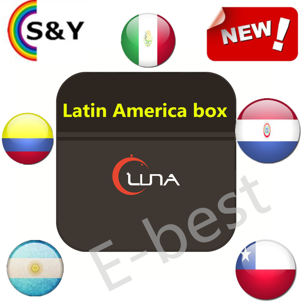 Luna tv box Latin iptv TV Box Live South America Mexico Chile Argentina Paraguay Colombia Streaming