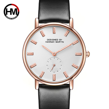 Ms Two-and-a-half small dial Simple Casual Fashion Leather Belt Watch College Students White Collar Quartz Waterproof Watch
